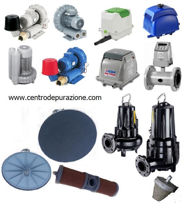 Ricambi per depuratori acque reflue